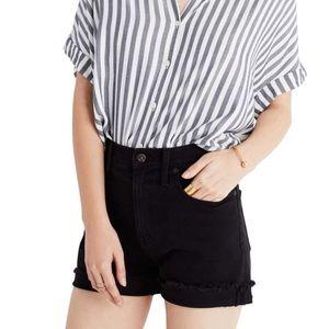 Madewell   High Rise Cutoff Shorts in Black